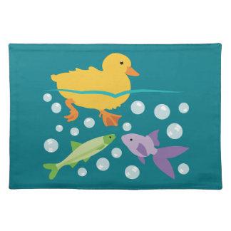 Duckling och fiskar bordstablett