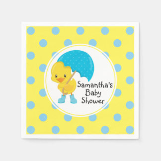 Ducky med paraplybaby shower servetter