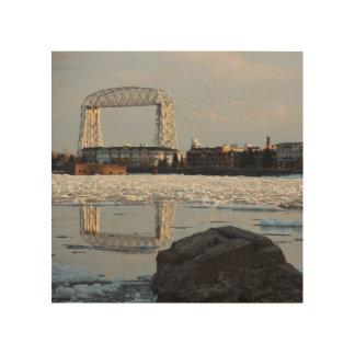 Duluth Minnesota Ariel hiss överbryggar kanalen Trätavla