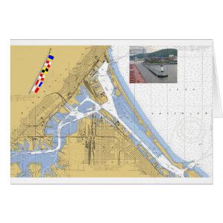 Duluth MN-hamn kartlägger signalerar Hälsningskort