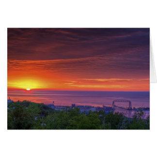 Duluth soluppgång hälsningskort