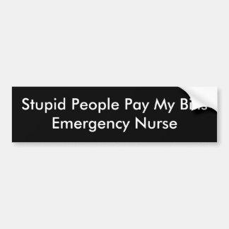 Dum bildekalsjuksköterska bildekal
