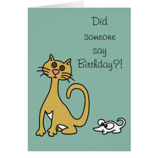 Dum hälsning för födelsedag för katt- och hälsningskort