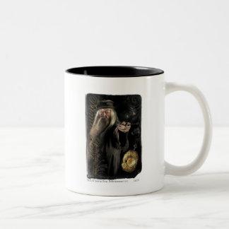 Dumbledore skrivar logotypen kaffe mugg