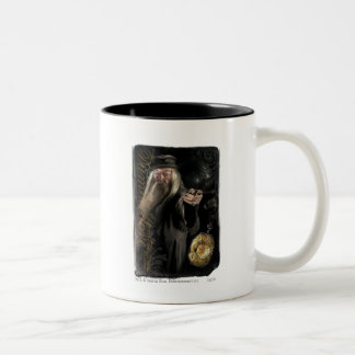 Dumbledore skrivar logotypen Två-Tonad mugg
