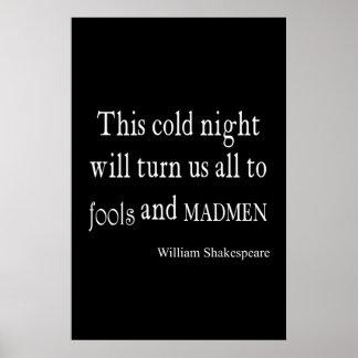 Dumbom- och MadmenShakespeare för denna kallt natt Poster