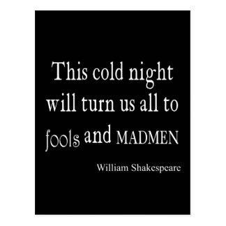 Dumbom- och MadmenShakespeare för denna kallt natt Vykort