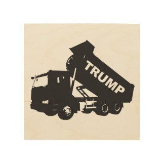Dumpa trumfen - lastbil trätavla