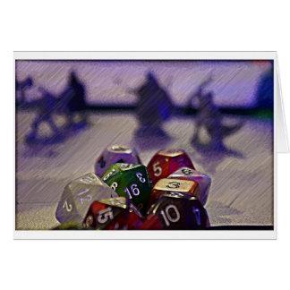 Dungeons och draketärningkort hälsningskort