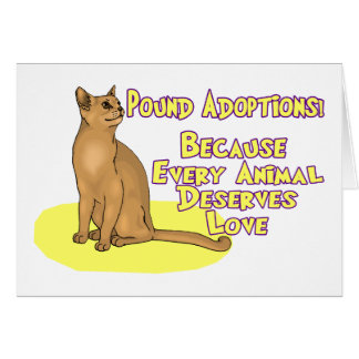 Dunka adoptioner hälsningskort