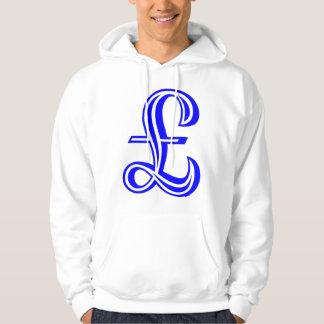Dunka undertecknar - blått sweatshirt med luva