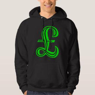 Dunka undertecknar - grönt sweatshirt med luva
