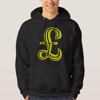 Dunka undertecknar - gult tröja med luva
