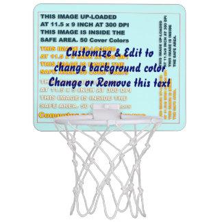 "Dunkel basketmålkortkort: 7,4"" x 9"" x 1""; 6"" (plas Mini-Basketkorg"
