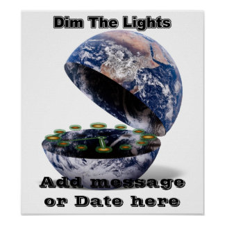 Dunkelt ljuset för jordtimme (jord öppnar), poster