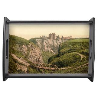 Dunottar slott, Stonehaven, Skottland Serveringsbricka