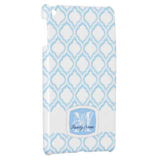 Duo-tona marockansk spaljé (blått) (monogramen) iPad mini mobil skal