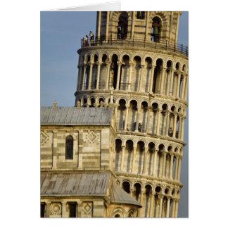 Duomo- och benägenhettorn, Pisa, Tuscany, italien Hälsningskort