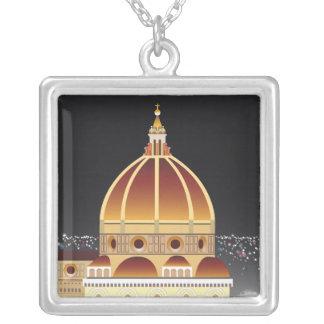 Duomohalsband Silverpläterat Halsband