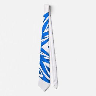 Duotone stam- Tieblått Slips