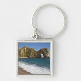 Durdle dörr, Lulworth Cove, Jurassic kusten, Fyrkantig Silverfärgad Nyckelring