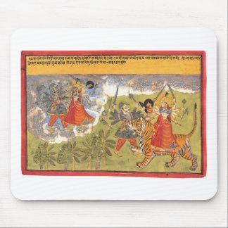 Durga slåss den Daitya rajaen Musmatta