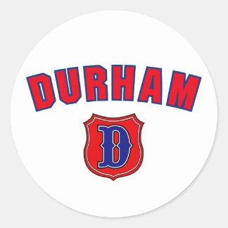Durham Throwback Runt Klistermärke