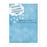 Dusch för baby showermeddelandeblått vykort
