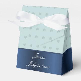 Dusch för blåtthjärtapojke presentaskar