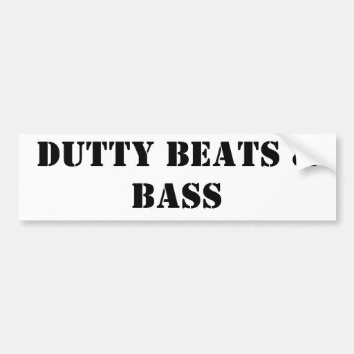 Dutty takter & bas bildekal