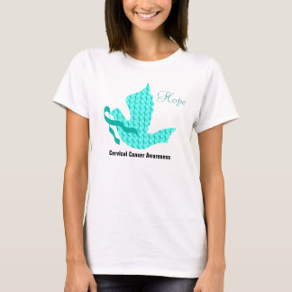Duva av hopp - krickaband (Cervical cancer) T-shirts