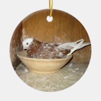 Duvan i henne bygga bo bunkeprydnaden julgransprydnad keramik