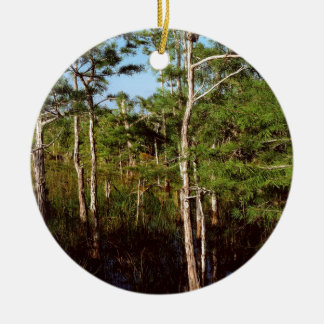 Dvärg- Cypress för skog Everglades Florida Julgransprydnad Keramik