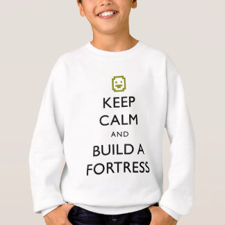 Dvärg- fästningbehållalugn och bygger ett tee shirt