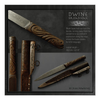 Dwine - Broadseax av Jake Powning Poster