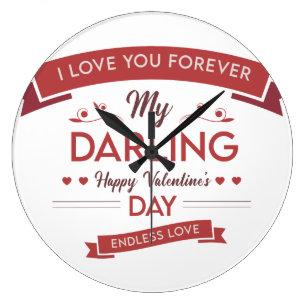 DY Wall Clock Valentine's Day Romantic Stor Klocka