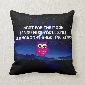 DYFT för måneuggladekorativ kudde