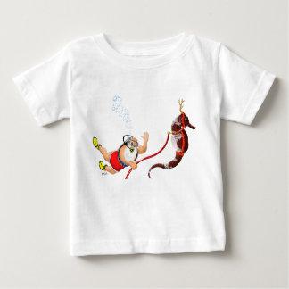 Dyka Santa & SeahorsespädbarnT-tröja Tee Shirt
