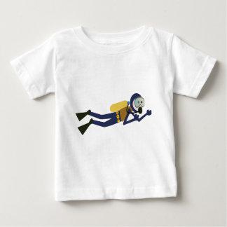 Dykare för Scuba för blått- och gultsimningtecknad T Shirts