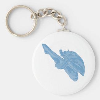 Dykare Keychain Rund Nyckelring