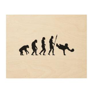 dyken fångar evolution trätavla