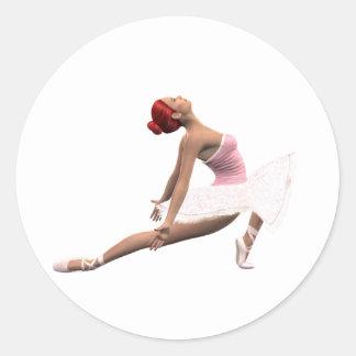 Dynamisk balettflyttning runt klistermärke