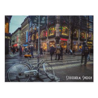 Dynamisk streetview av Stockholm, sverige Vykort