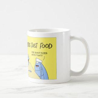 Dyngaskalbaggen beställer något snabbmat kaffemugg