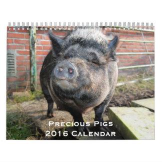 Dyrbar kalender för grisar 2016