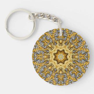 Dyrbar metallakryl Keychains, 6 stilar Dubbelsidigt Rund Akryl Nyckelring