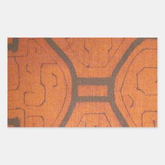 Dyrbart tyg rektangulärt klistermärke