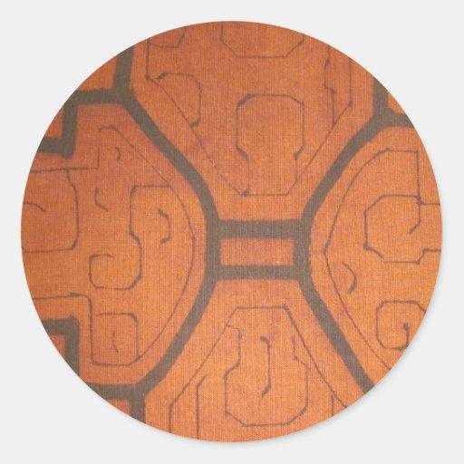 Dyrbart tyg runda klistermärken