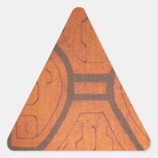 Dyrbart tyg triangelformat klistermärke