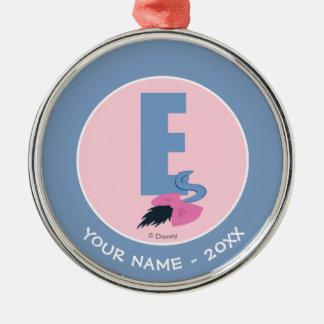 E är för Eeyore   tillfogar ditt namn Julgransprydnad Metall